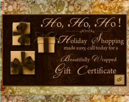 Gift Certificate Ho HO HO
